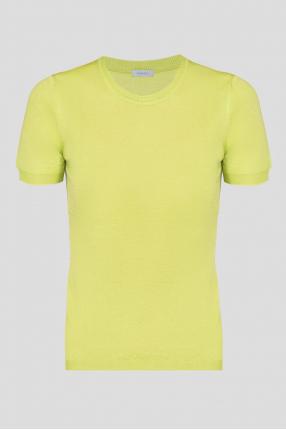 Женская салатовая кашемировая футболка