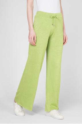 Женские зеленые шелковые брюки 1