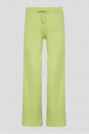 Женские зеленые шелковые брюки