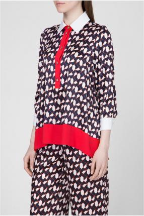 Женская шелковая блуза с принтом 1