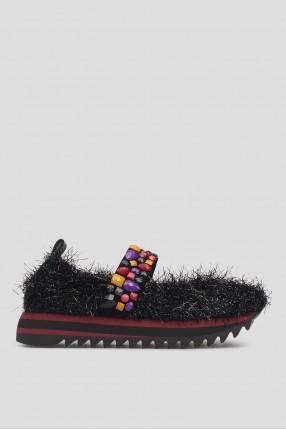 Женские черные туфли