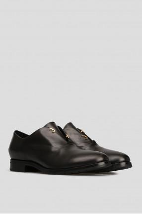 Женские черные кожаные лоферы 1