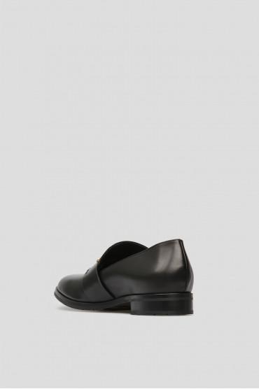 Женские черные кожаные лоферы 3