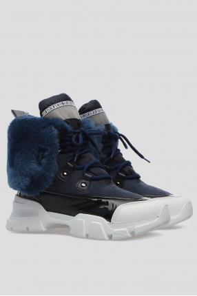 Женские синие ботинки 1