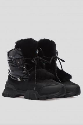 Женские черные ботинки 1