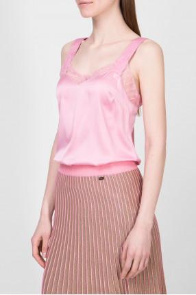 Женский розовый топ 1