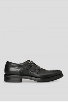 Мужские черные кожаные монки