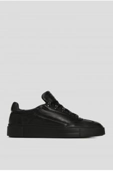 Мужские черные кожаные ботинки на меху