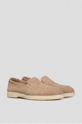 Мужские бежевые замшевые туфли 1