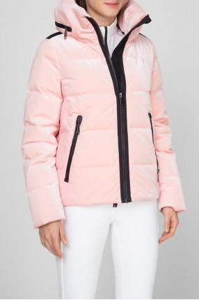 Женский розовый бархатный пуховик EMMELINA 1