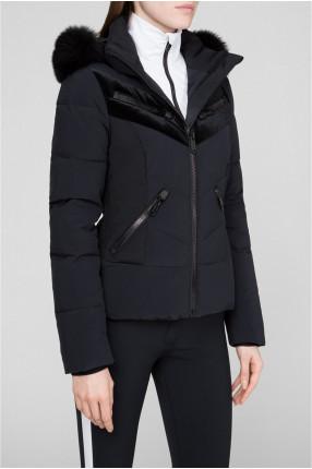 Женский черный лыжный пуховик 1