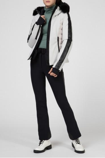Женская светло-серая лыжная куртка 5