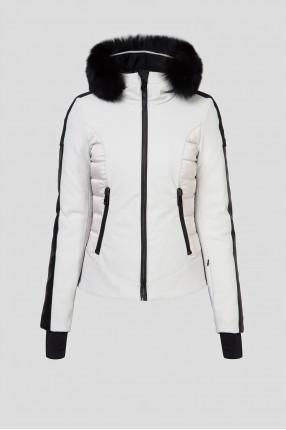 Женская светло-серая лыжная куртка