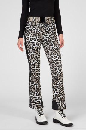 Женские леопардовые лыжные брюки 1
