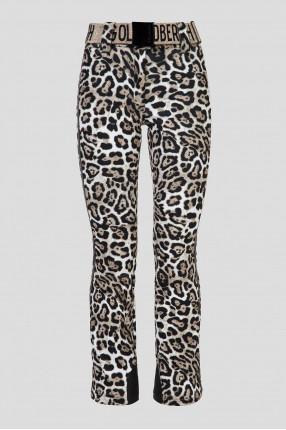 Женские леопардовые лыжные брюки