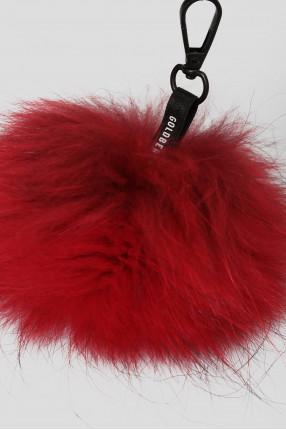 Женский красный меховой брелок 1