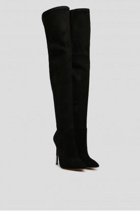 Женские черные ботфорты 1