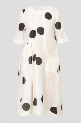 Женское льняное платье