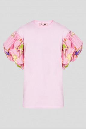 Женский розовый топ
