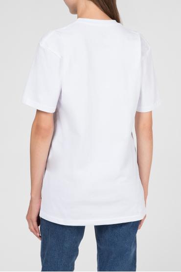 Женская белая футболка с принтом 3