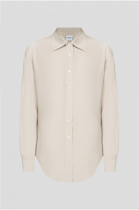 Женская бежевая шелковая блуза