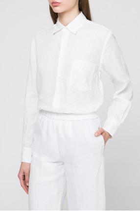 Женская белая льняная блуза 1