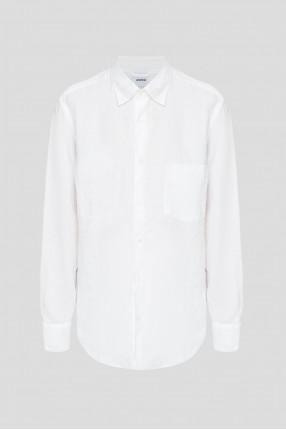 Женская белая льняная блуза