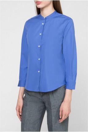 Женская синяя блуза 1