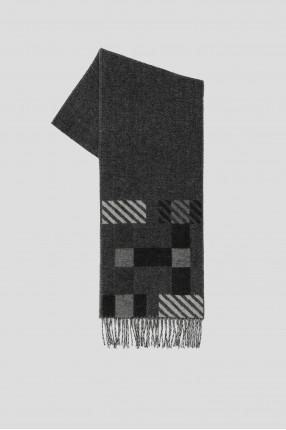Мужской серый кашемировый шарф