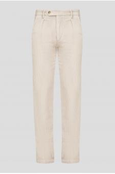 Мужские белые вельветовые брюки