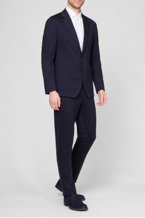 Мужской темно-синий костюм (пиджак, брюки) 1