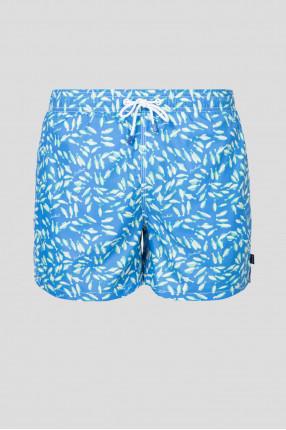 Мужские голубые плавательные шорты