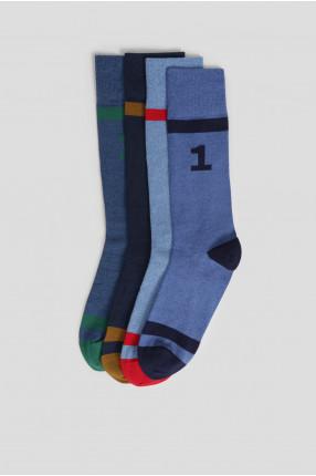 Мужские синие носки (4 пары) 1