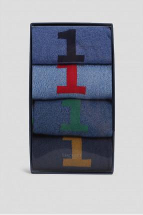 Мужские синие носки (4 пары)