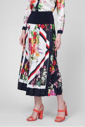 Женская плиссированная юбка с принтом 1