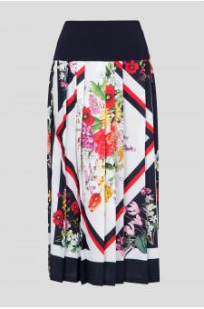 Женская плиссированная юбка с принтом