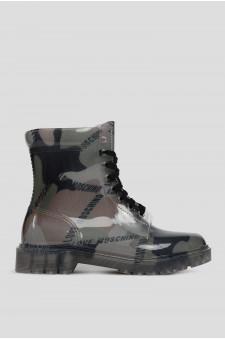 Женские камуфляжные резиновые ботинки