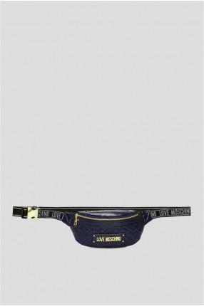 Женская темно-синяя поясная сумка