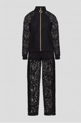 Женский черный спортивный костюм (кофта, брюки)