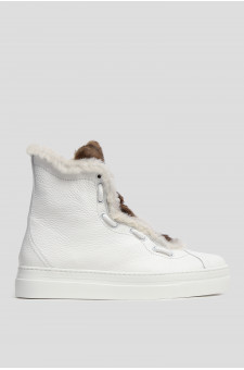 Женские белые кожаные хайтопы