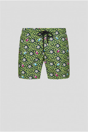 Мужские плавательные шорты с принтом