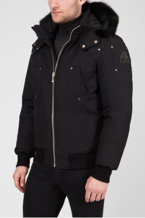 Мужская черная пуховая куртка 1