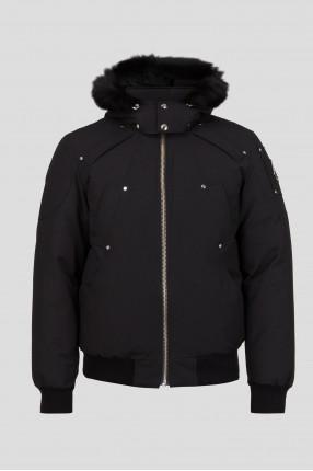Мужская черная пуховая куртка