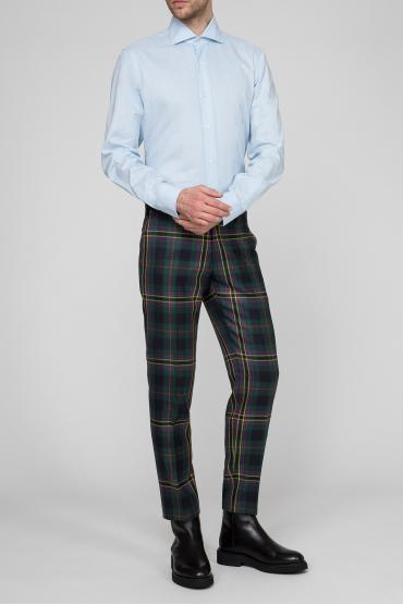 Мужские шерстяные брюки в клетку 5