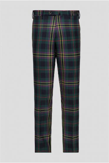 Мужские шерстяные брюки в клетку 1