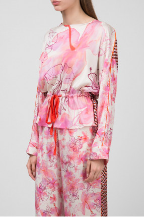 Женская розовая блуза 1