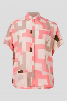Женская розовая блуза с узором
