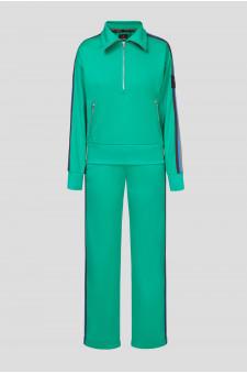 Женский зеленый спортивный костюм (кофта, брюки)