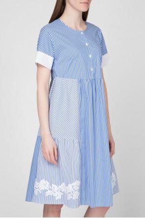 Женское платье в полоску  1