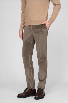 Мужские светло-коричневые вельветовые брюки 1